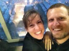 On top of the Eiffel Tower, right after Jozef and I got engaged. An epic night!